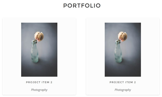 An image describing two portfolio items.