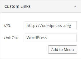 An image describing where to add URLS for the social menu.